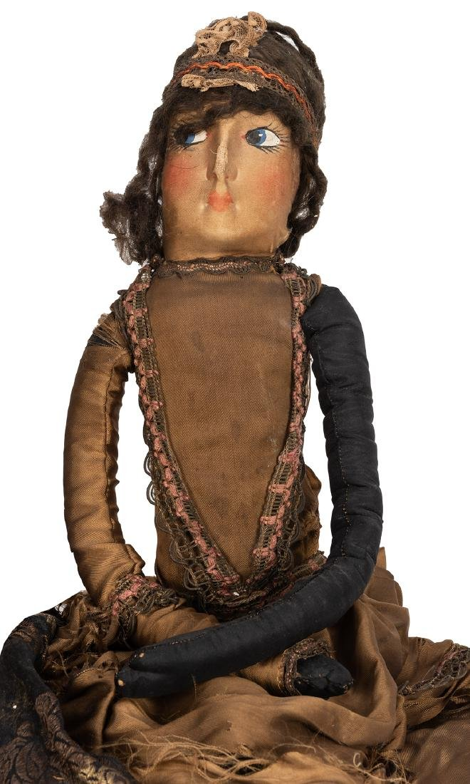 Large French Boudoir Cloth Dolls. - 3