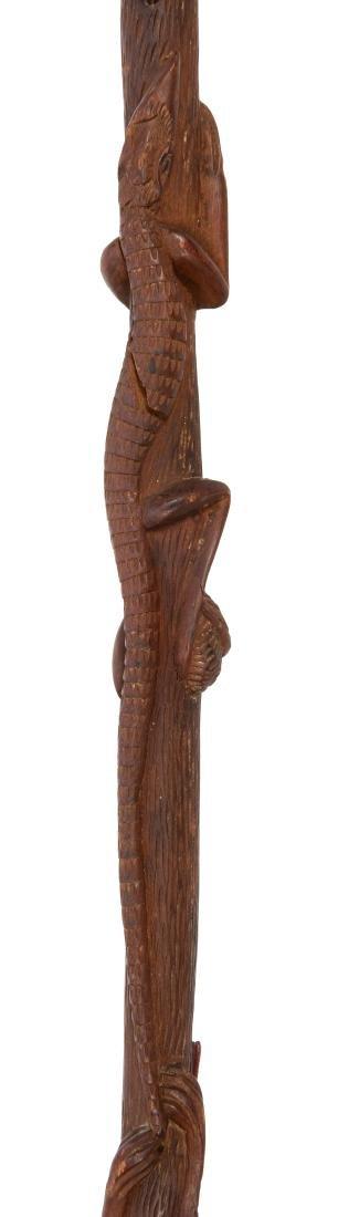 Vintage Carved Totem Folk Art Stick. - 4