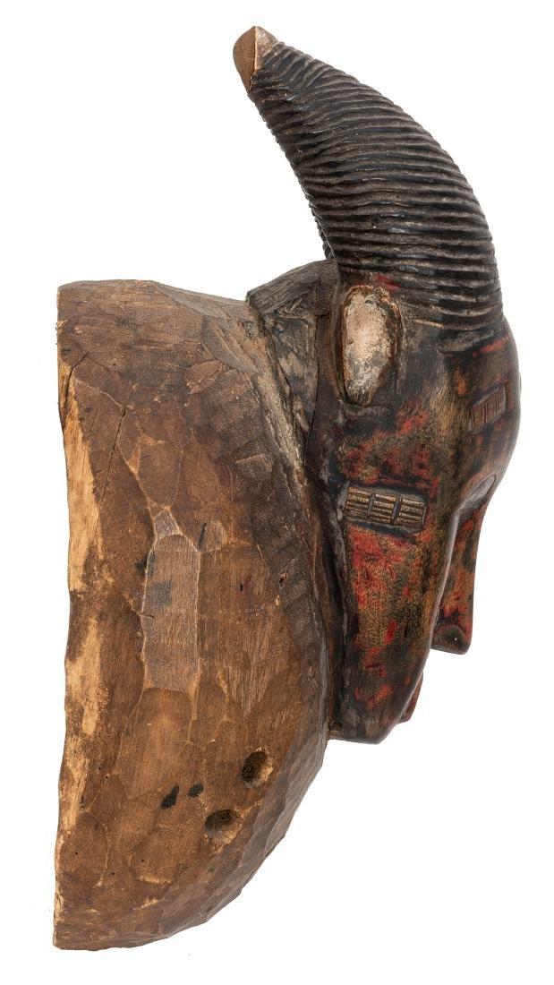 Vintage African Wooden Mask. - 2