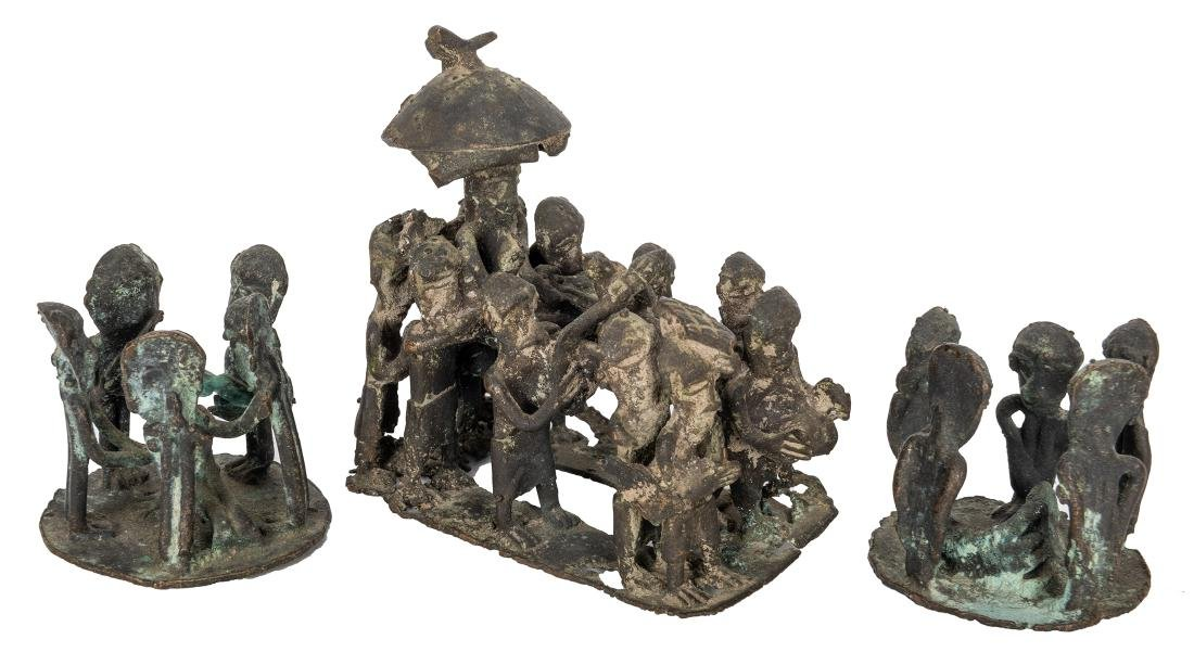 Three African Copper Sculptures.
