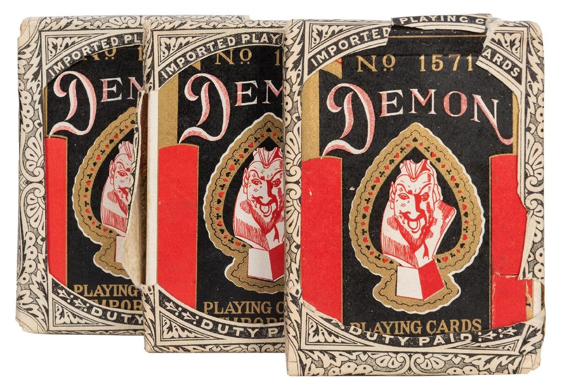 Demon No. 1571 Playing Cards.