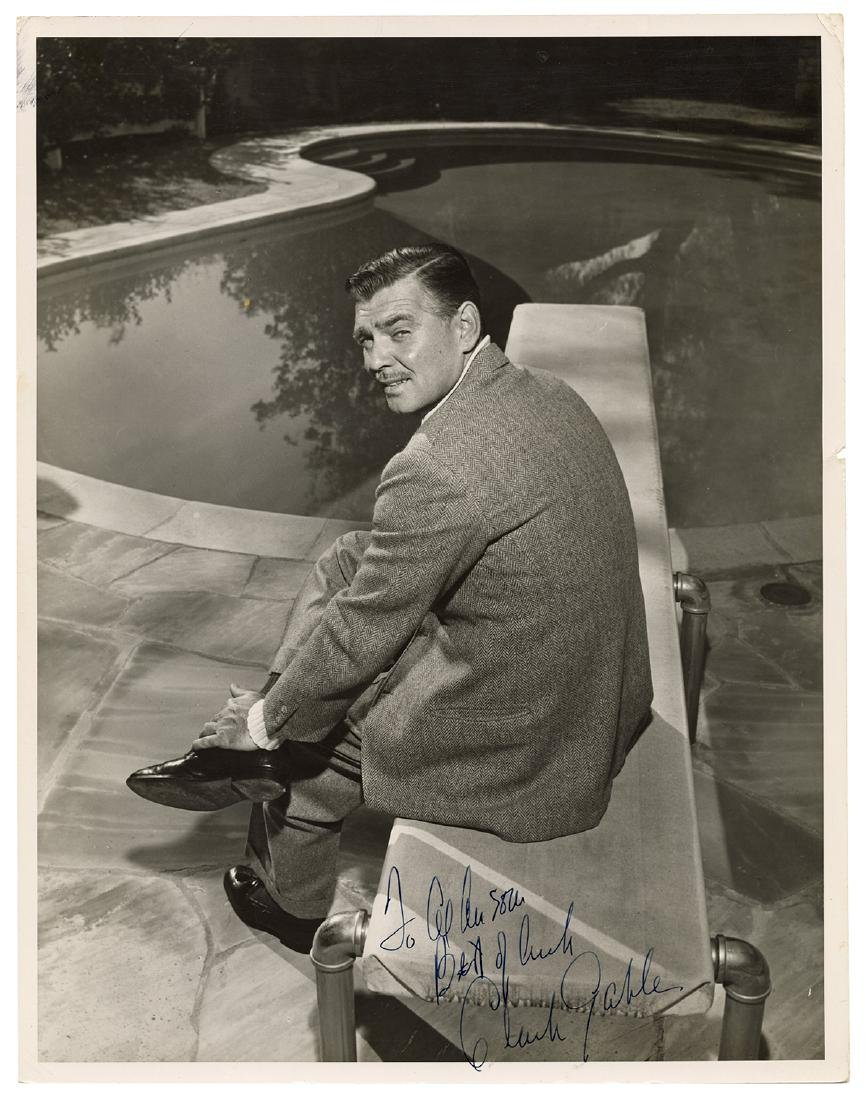 Inscribed and Signed Photograph of Clark Gable.