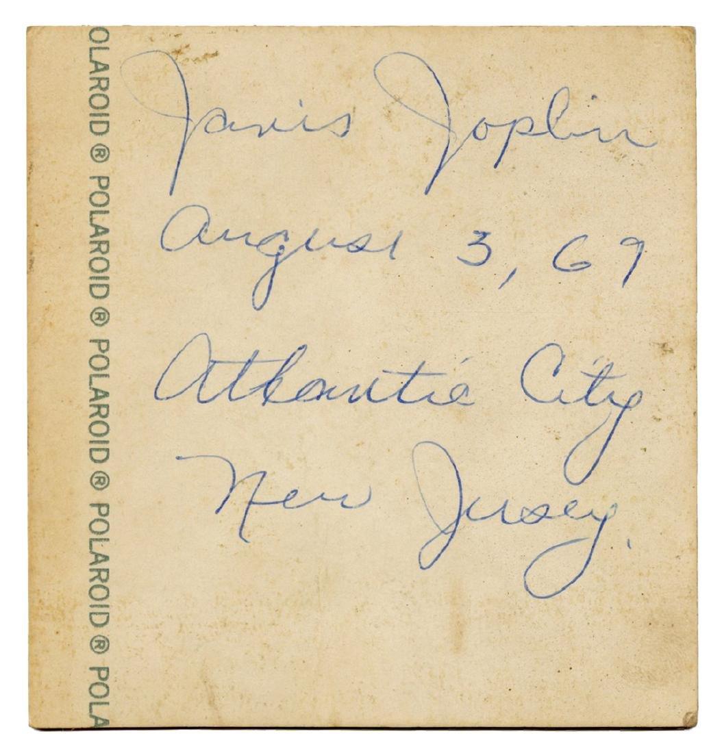 Janis Joplin Atlantic City Pop Festival Candid Polaroid - 2