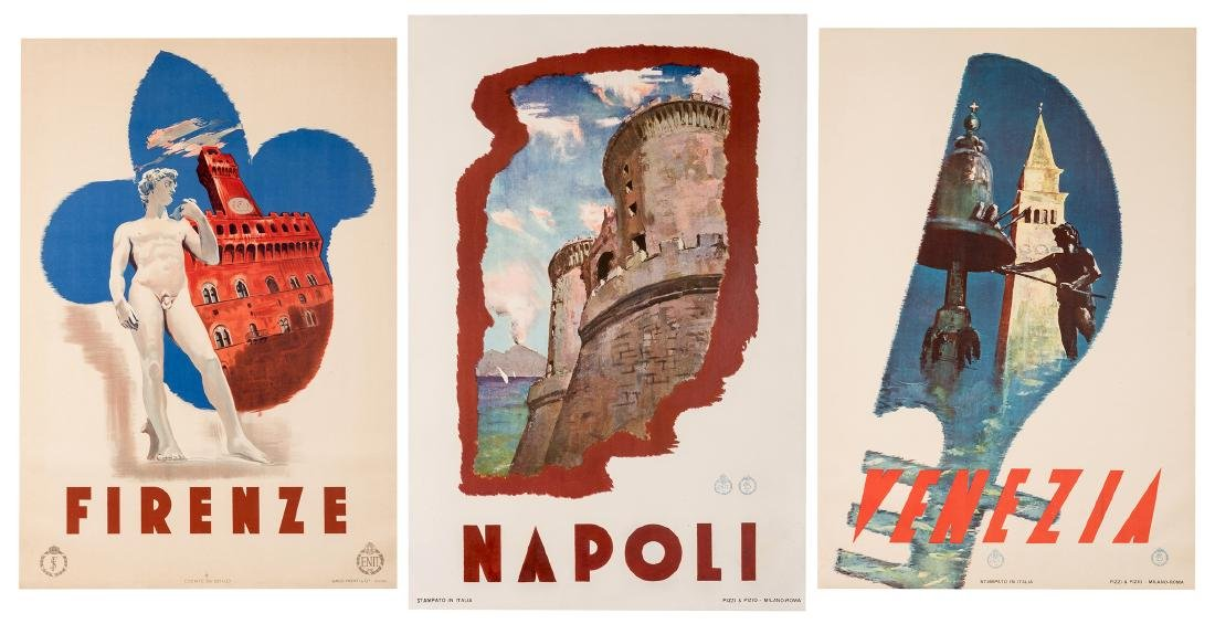 Trio of Vintage Italian Travel Posters. - 4