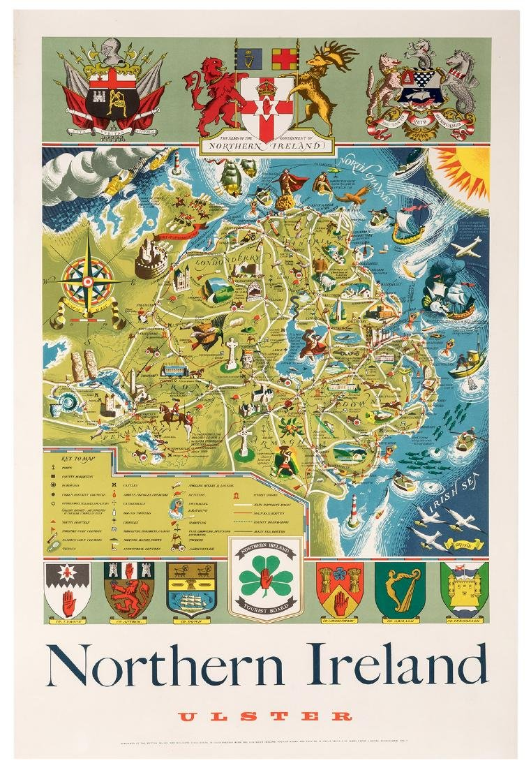 Northern Ireland and Scotland. Two Travel Posters. - 2