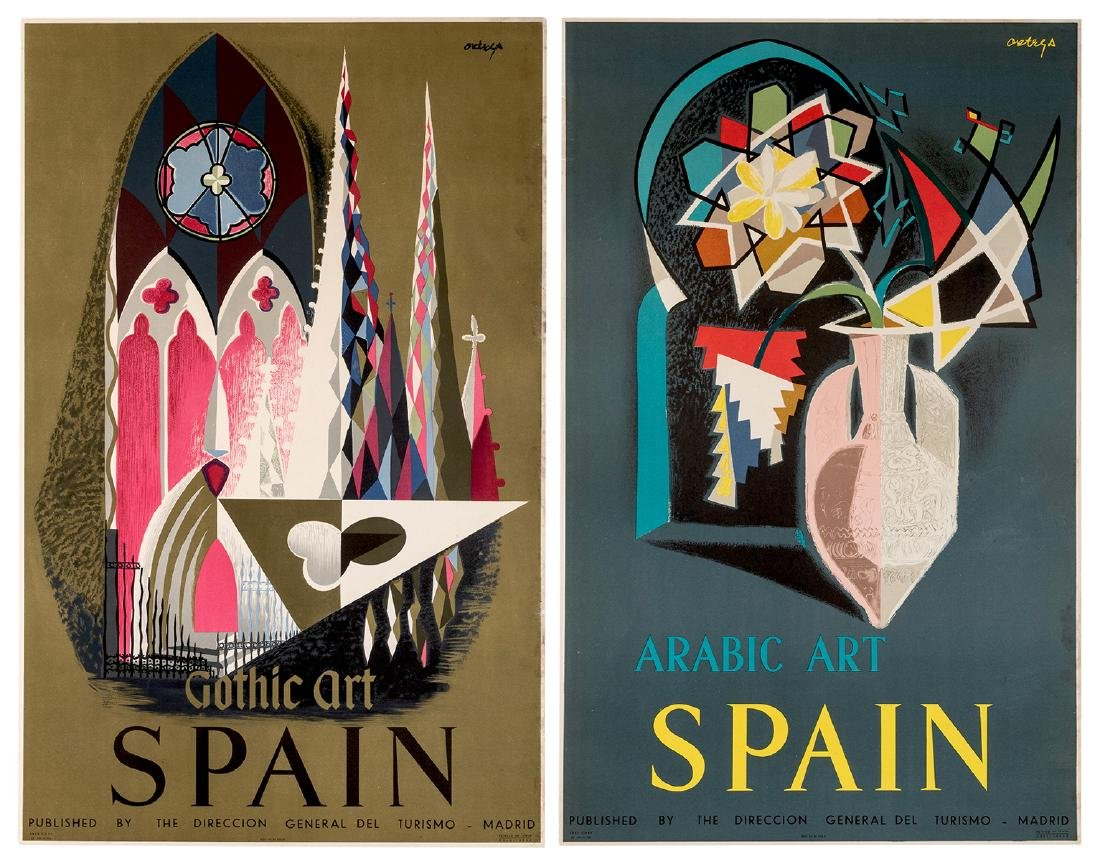 Spain. Two Original Travel Posters.