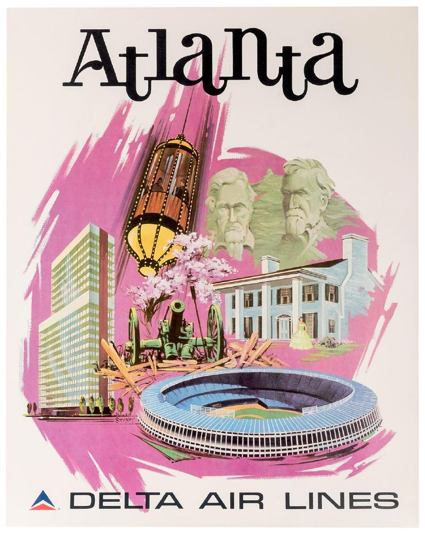 Delta Air Lines. Four Original Airline Travel Posters. - 3