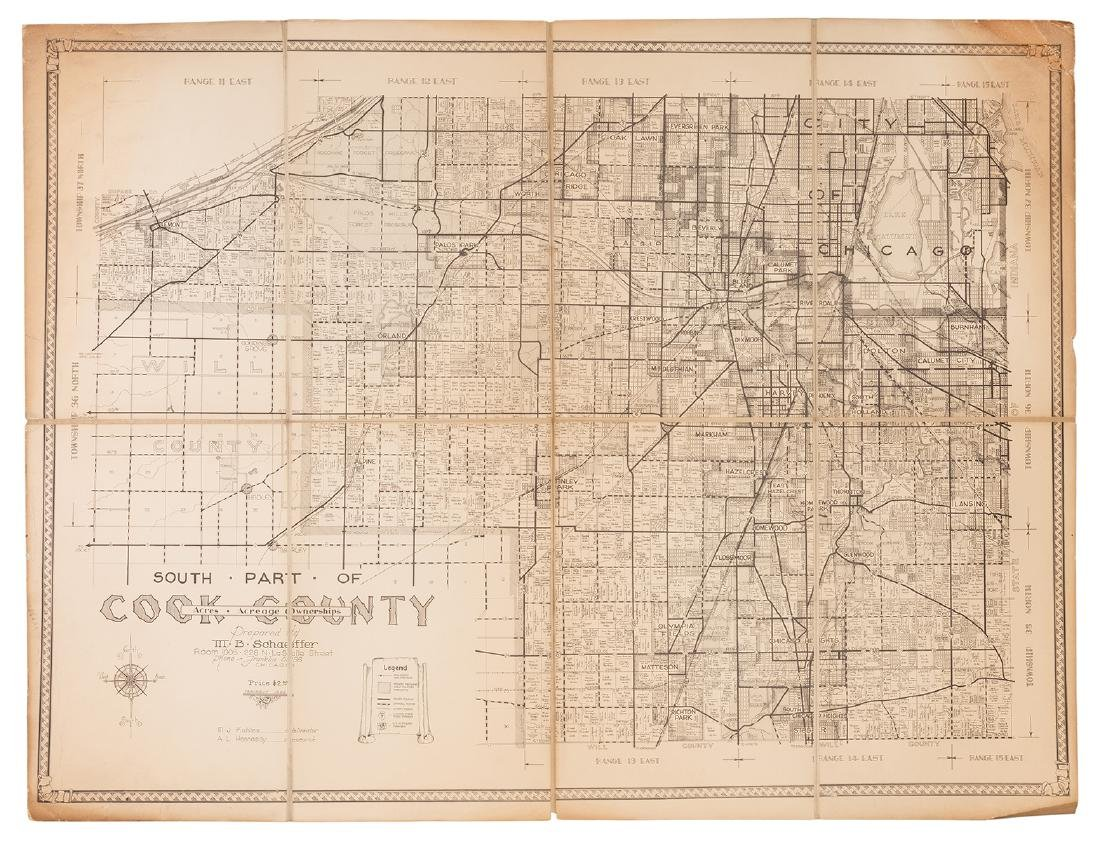 M.B. Schaeffer. Map of the South Part of Cook County.