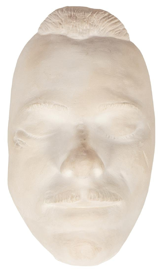 John Dillinger Death Mask, Hair from His Moustache, and