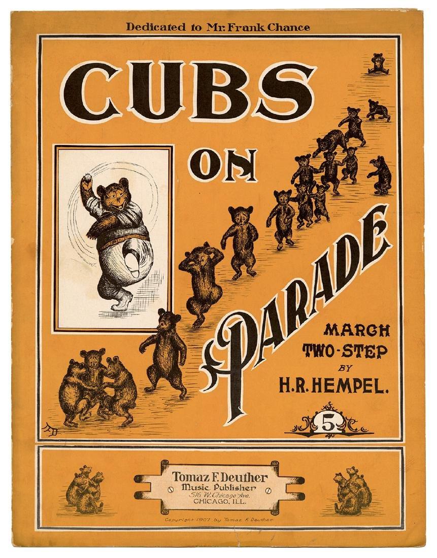 Cubs on Parade Sheet Music.