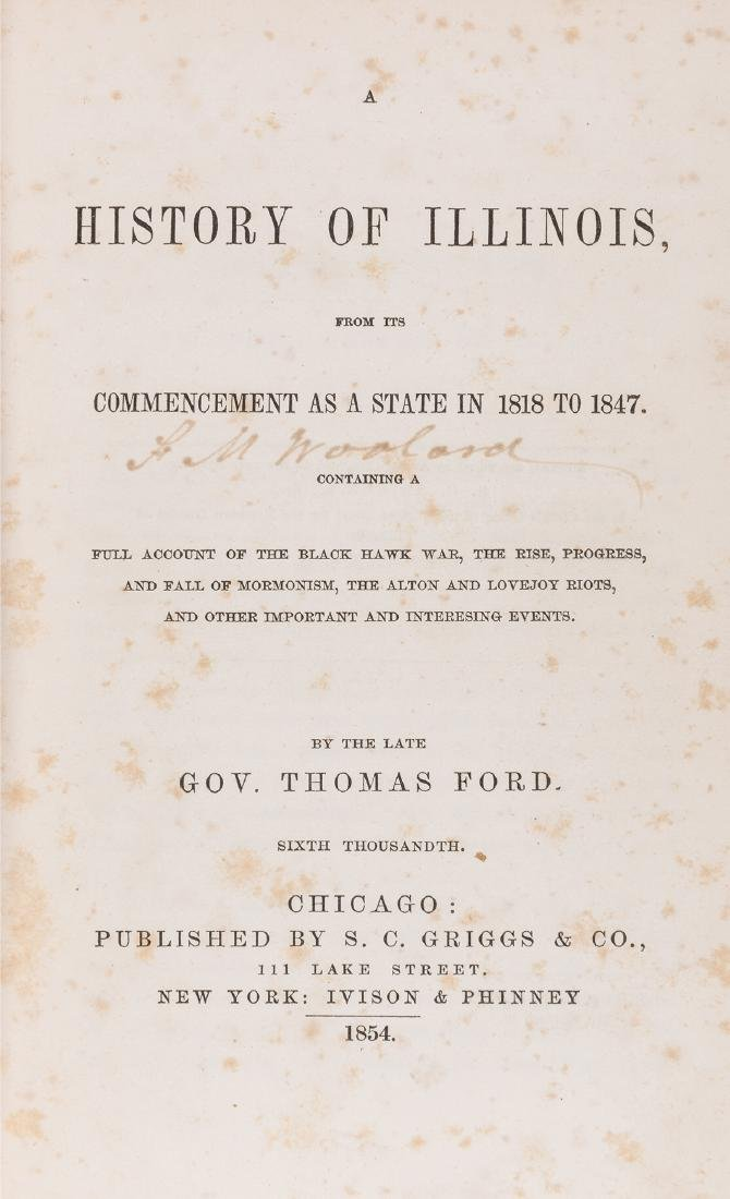 A History of Illinois, From Its Commencement as a State - 2