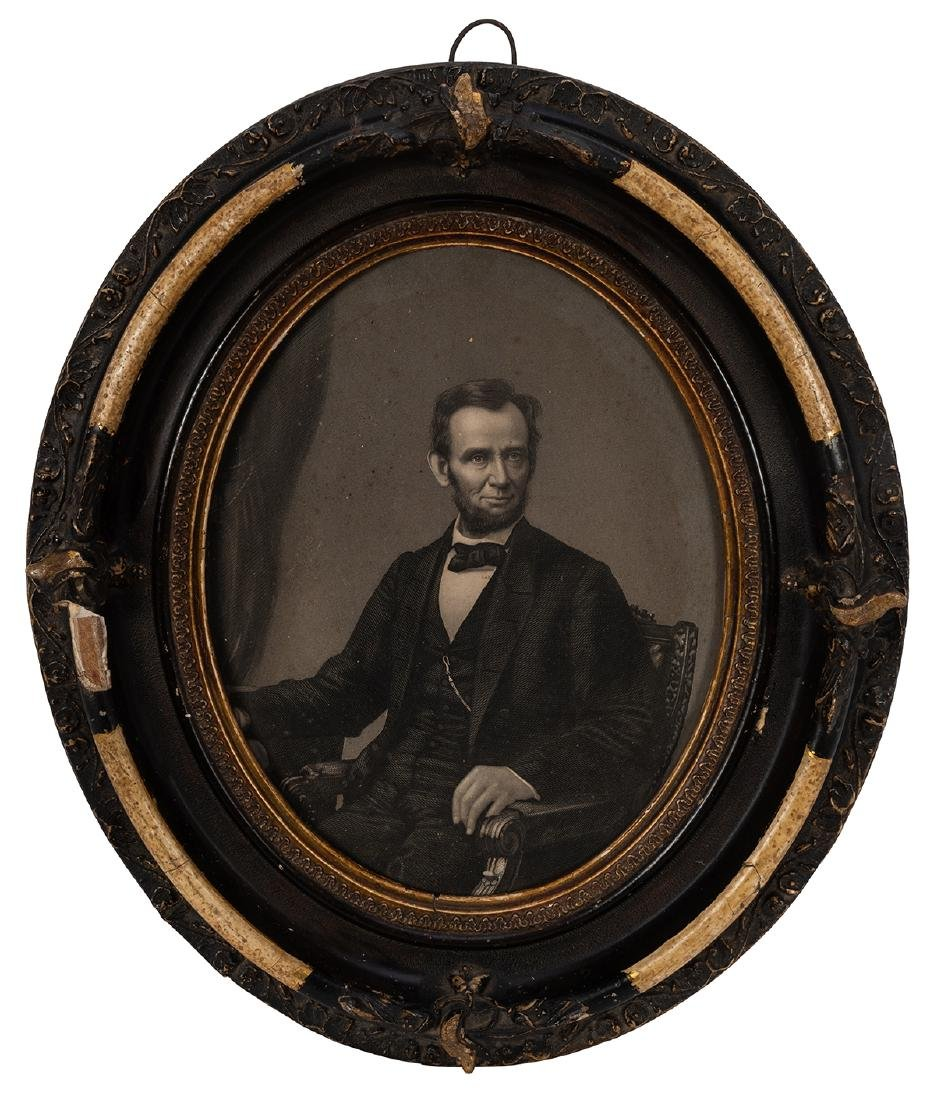 Two Antique Portraits of Lincoln. - 2