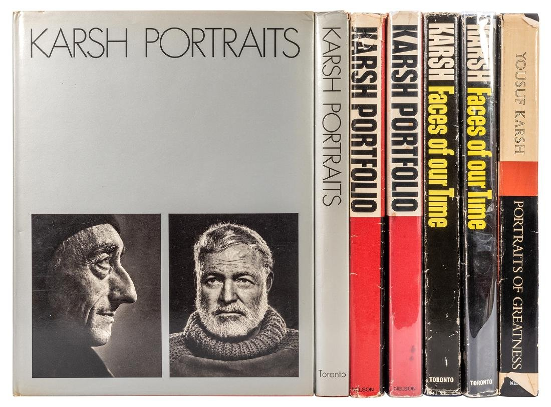 Seven Books of Karsh Photographs, three signed