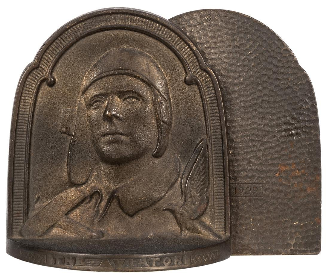 Charles Lindbergh Bookends, Photo, and Lithograph.