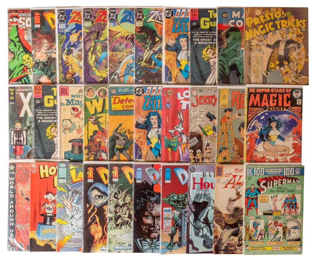 Magic and Magicians. 35 Comic Books.