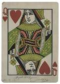 Giant Queen of Hearts inscribed and signed by Joseffy.