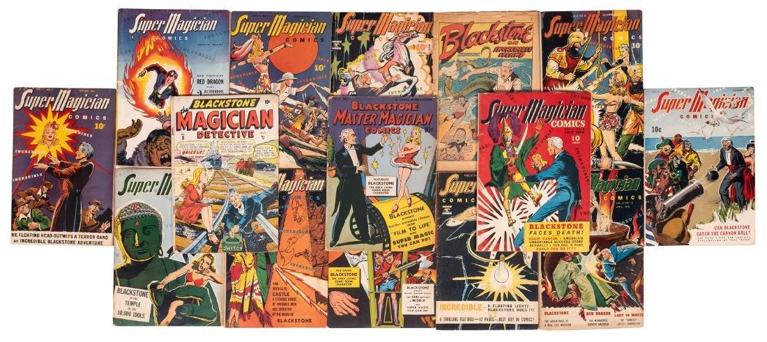 Super-Magician and Other Blackstone Comics. Lot of 14