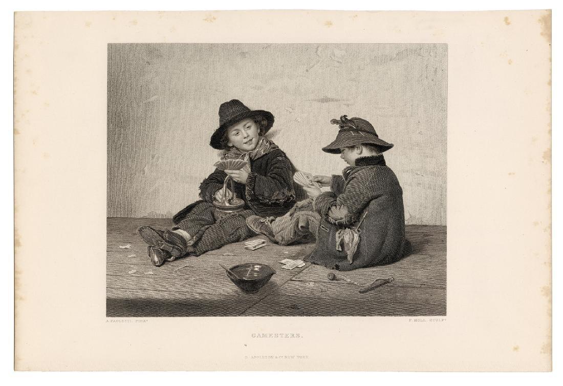 Group of Four Antique Gambling Engravings.