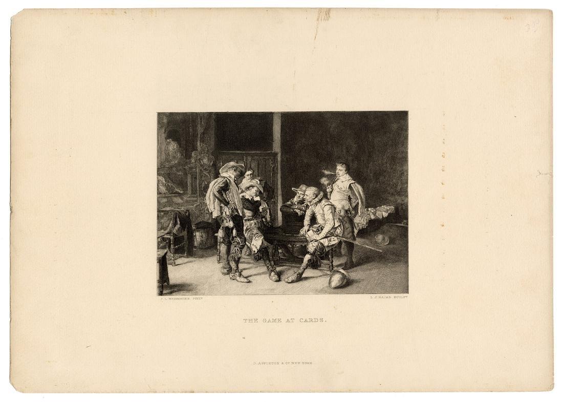 Group of Four Antique Gambling Engravings. - 2