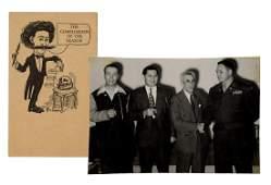 Joseffy Caricature Postcard and Photograph.