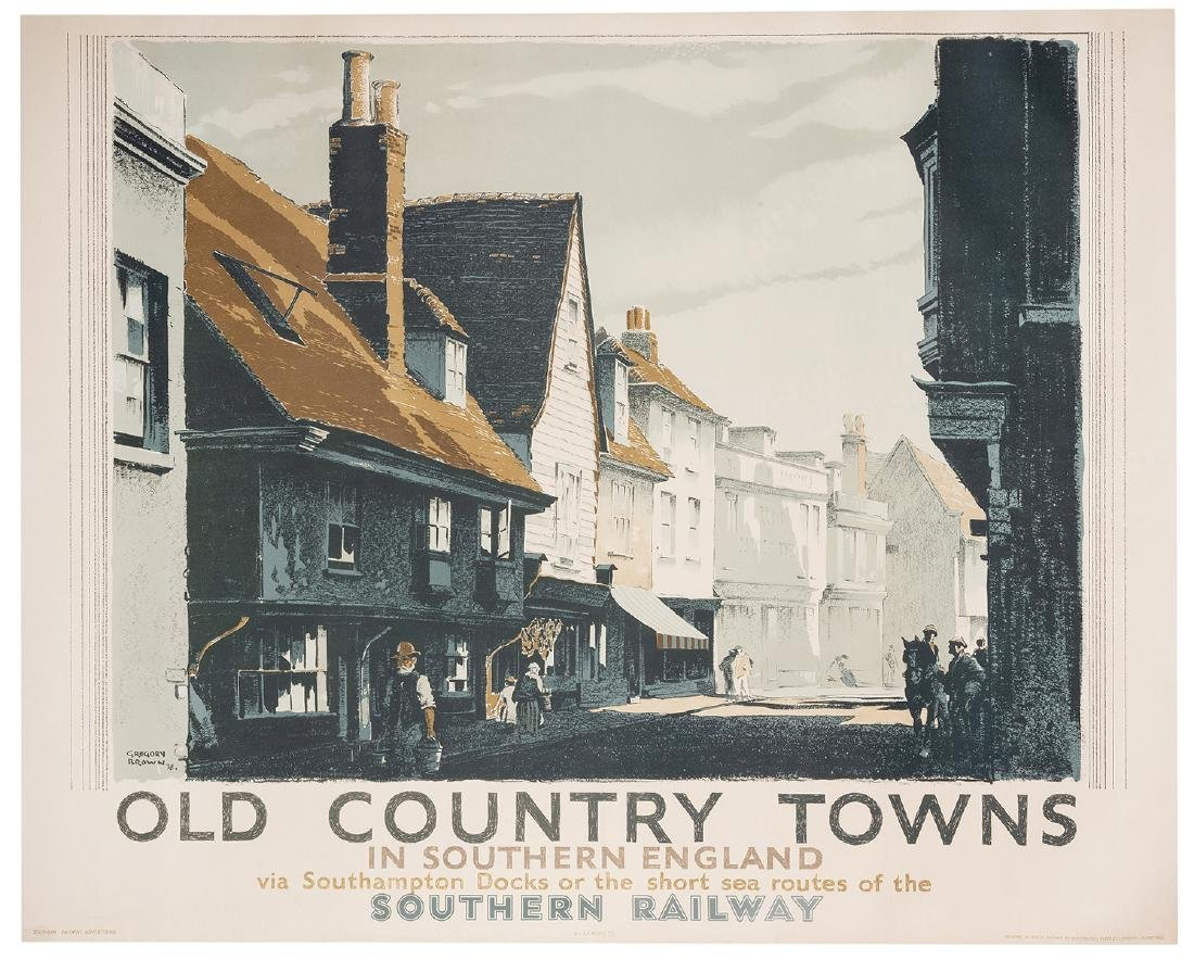 Brown, Gregory (1887-1941). Old Country Towns in