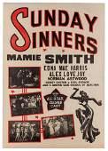 Sunday Sinners. International Road Shows, 1940.