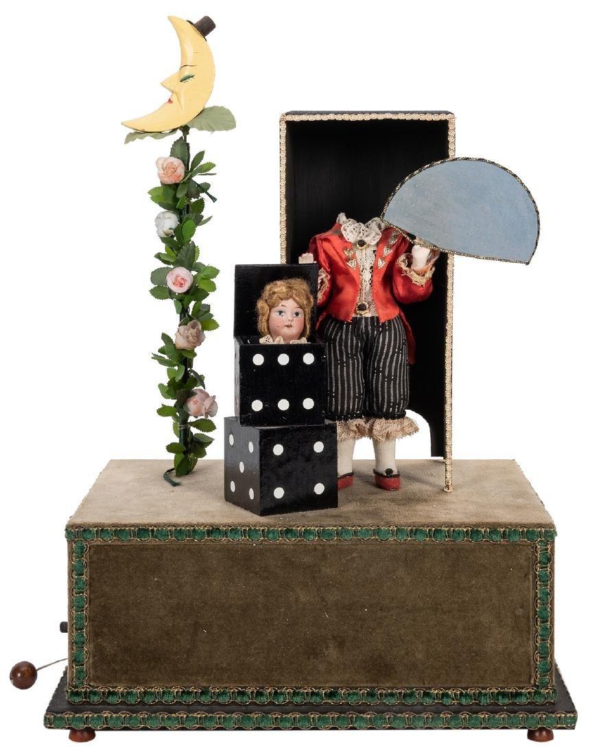 Magician Decapitation Trick Musical Automaton.