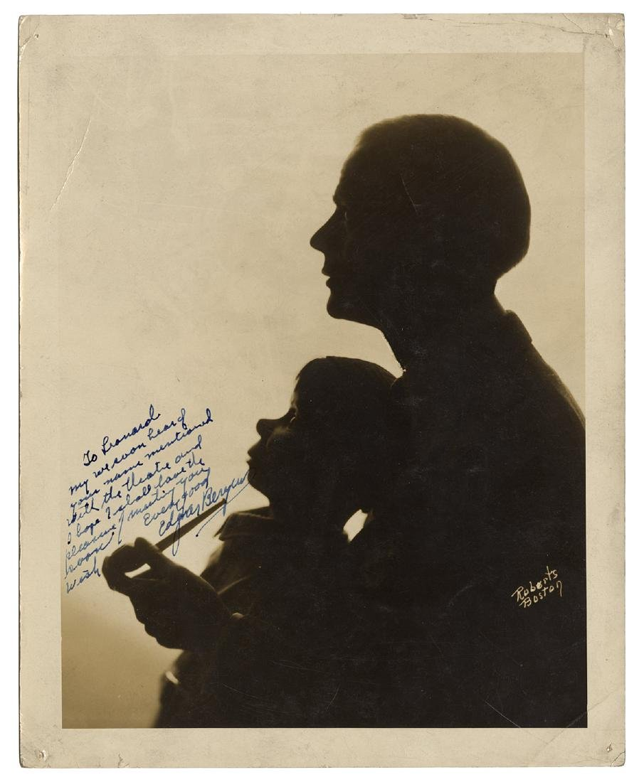 Edgar Bergen Signed and Inscribed Photograph.