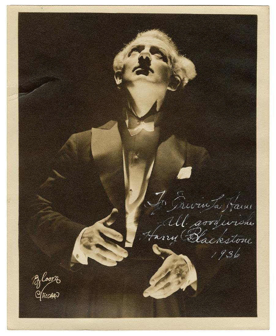 Inscribed and Signed Photograph of Harry Blackstone.