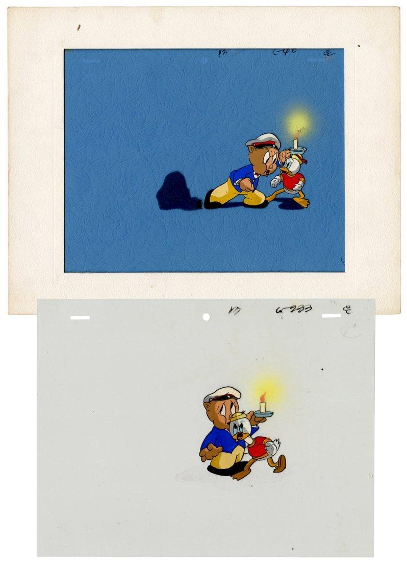 Porky Pig. Pair of Animation Cels. Warner Bros., n.d.
