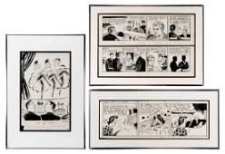 Various Original Comic Strip and Editorial Illustration
