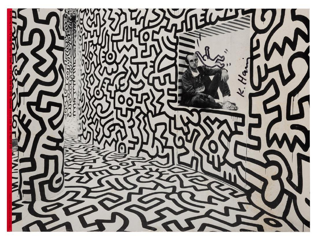 Haring, Keith. Keith Haring in the Pop Shop. Signed