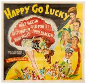 Happy Go Lucky. Paramount Pictures, 1943. Six-sheet