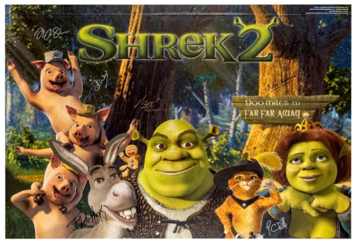 Shrek 2 Signed By Cast Dreamworks 2004 Animation Jul 27 2019 Potter Potter Auctions In Il