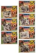 John Wayne Vintage Lobby Cards 7pcs Includes a set of