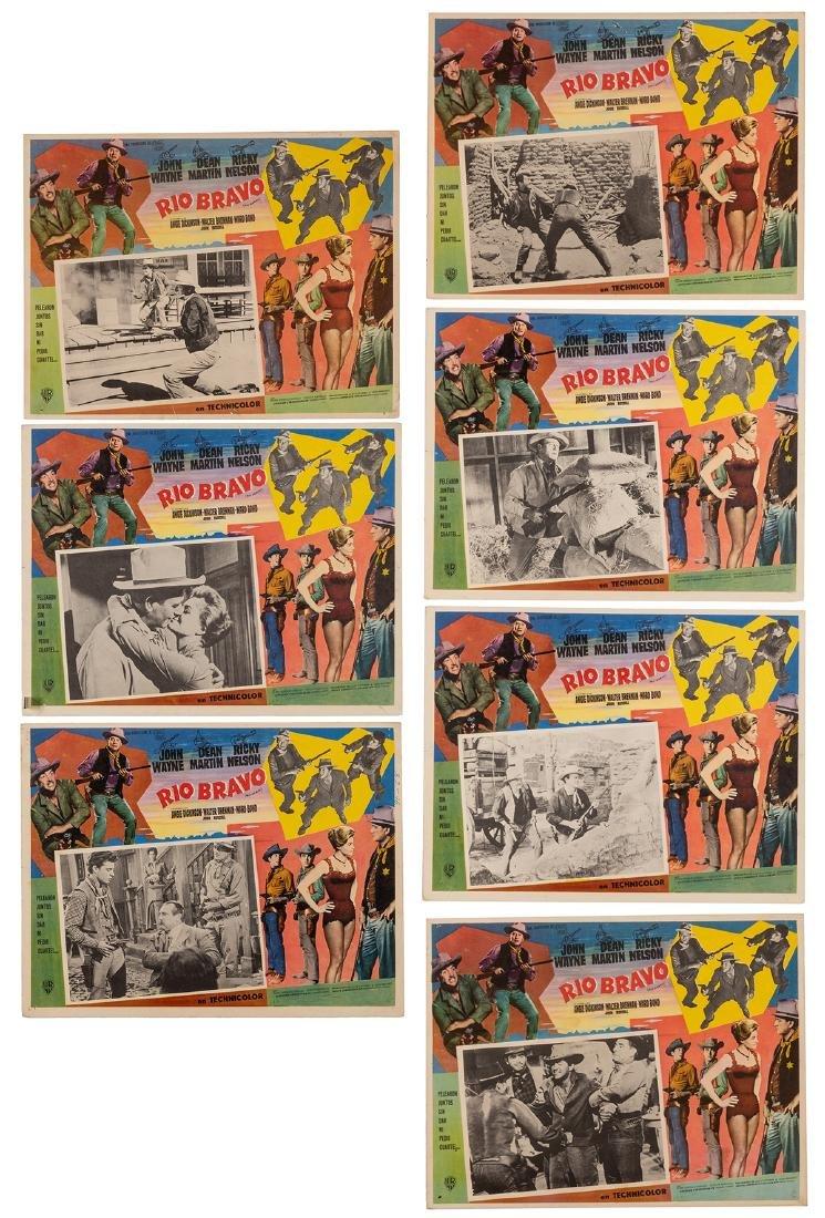 John Wayne Vintage Lobby Cards. 7pcs. Includes a set of
