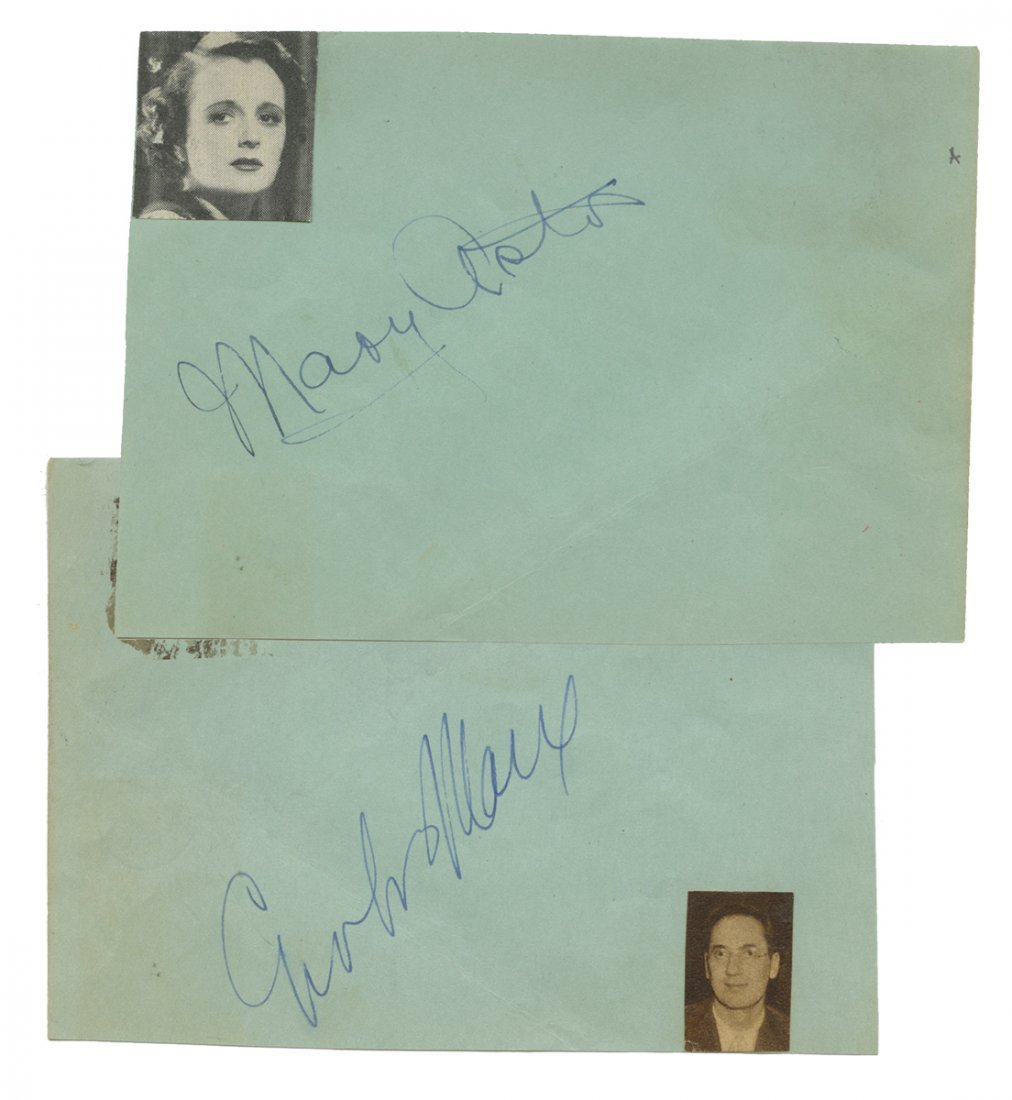 Groucho Marx and Betty Astor Signatures. Both film