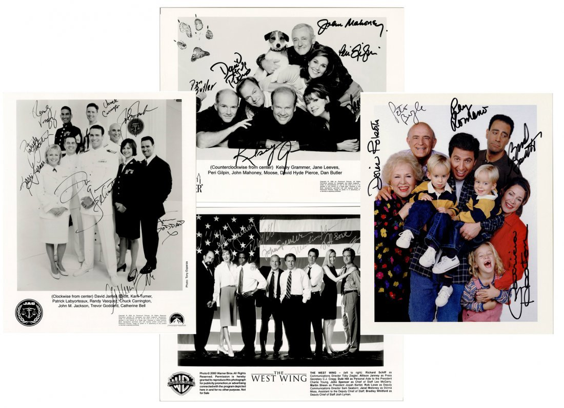 Group of Television Cast Signed Photographs. Boldly