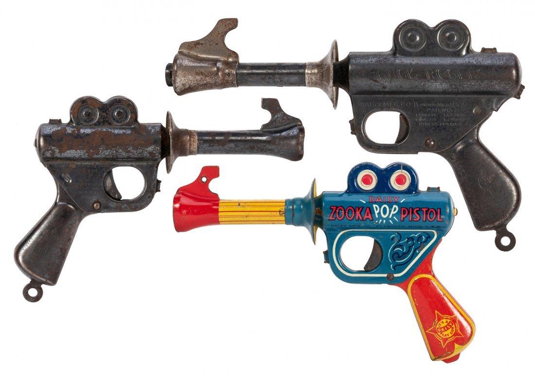 Trio of Daisy Toy Space Guns. Bucks Rogers/Zooka/Daisy.