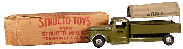 Structo Diamond T US Army Canvas Top Transport Truck