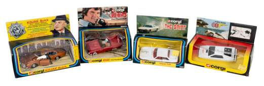 Lot of Four Movie and Television Tie-In Corgi Cars.
