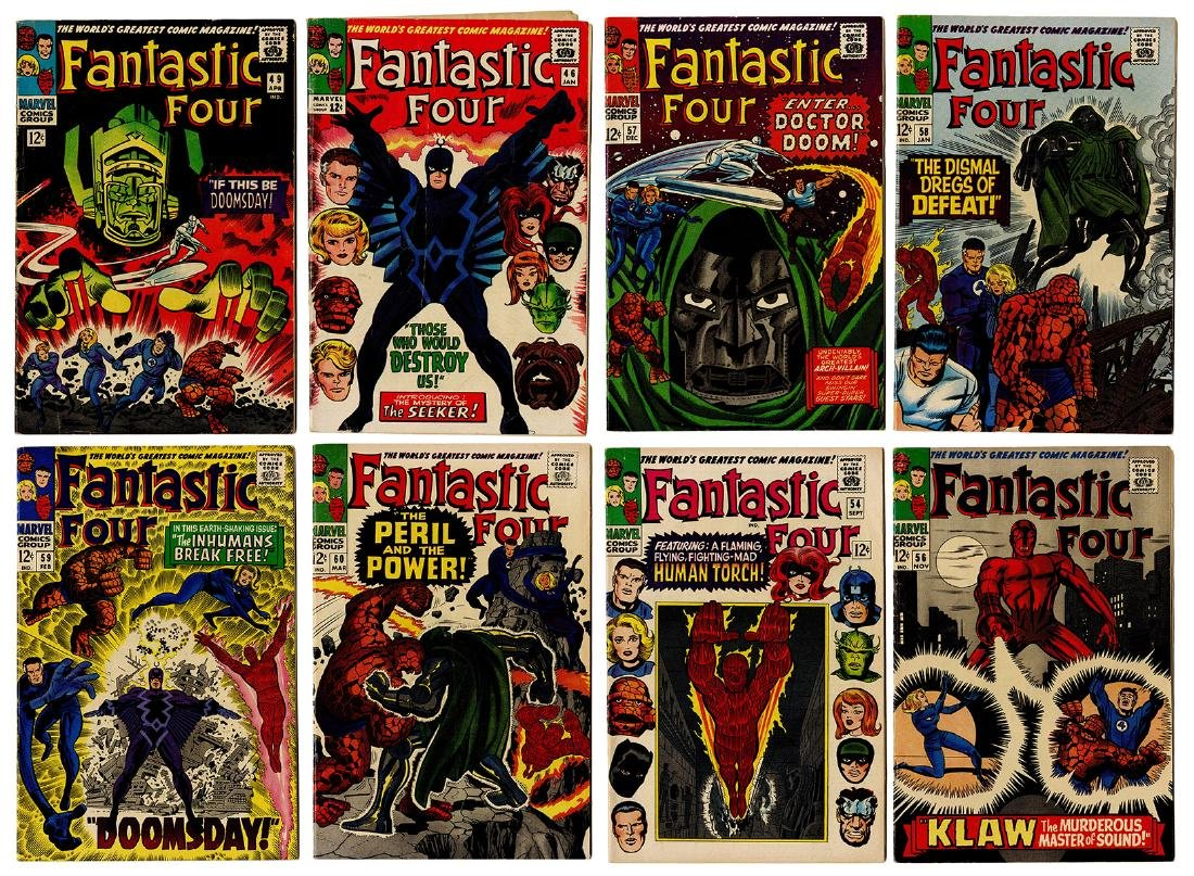 Fantastic Four. Lot of 12 Comic Books. Marvel, 1966/67.