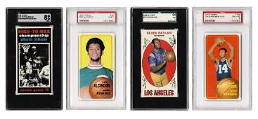 1970s Topps Basketball Cards. Thirteen Graded Cards.