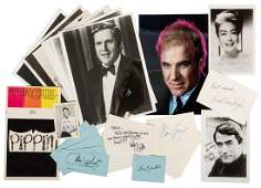 Lot of Hollywood Personalities Signed/Autograph Index