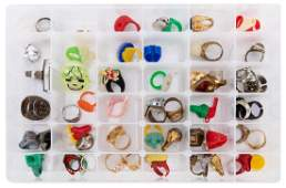 Lot of Premium and Costume Vintage Rings. 55 pcs.