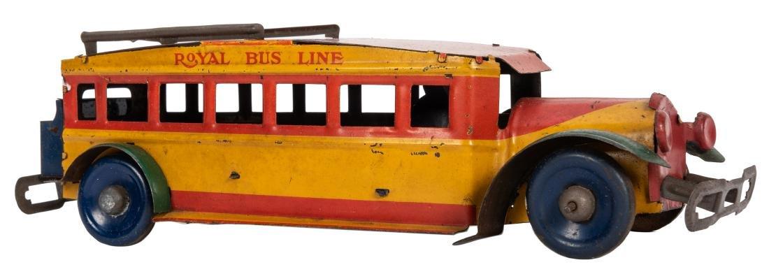 Royal Bus Line Tin Windup. Marx, ca. 1928.