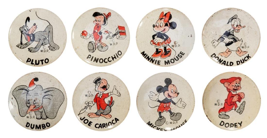 Walt Disney Donald Duck Peanut Butter Premium Buttons.