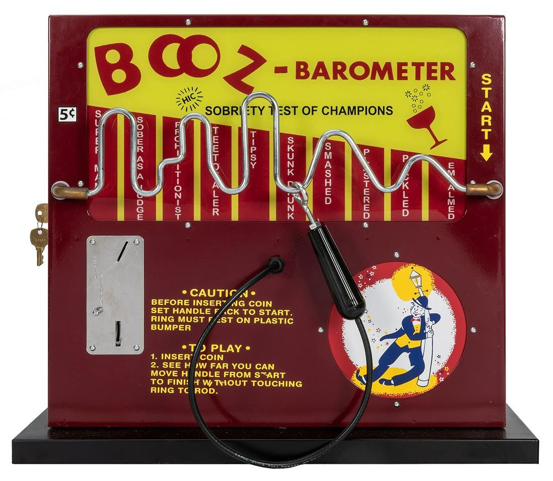 Five Cent Booz Barometer Sobriety Test Game.
