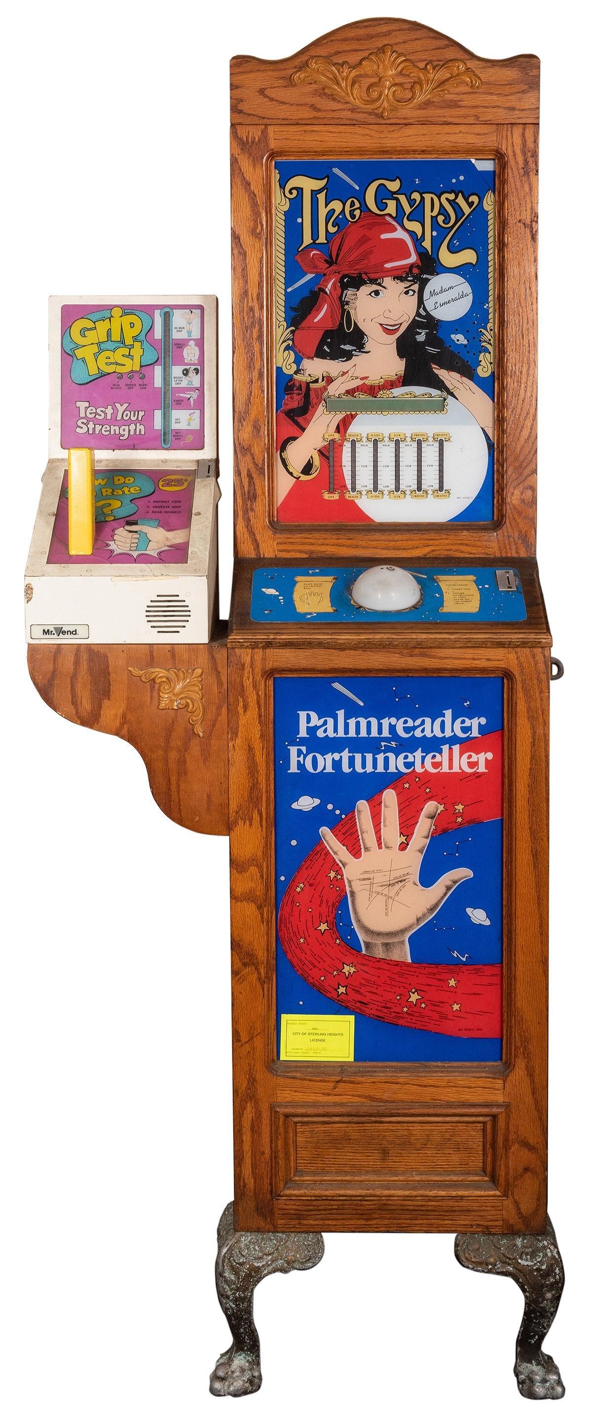 The Gypsy Fortune-Teller / Grip Test Arcade Machine.