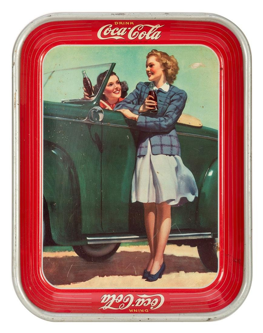 Coca-Cola Serving Tray. The Roadster Girls.